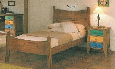 Cama rustica 056 066 blog de artesania y decoracion for Cama rustica de madera