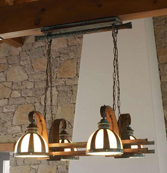 Lampara techo armada 4 plafones blog de artesania y - Lamparas para cocinas rusticas ...