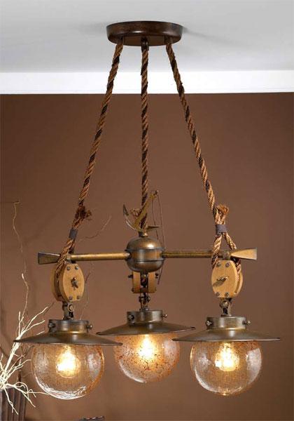Lampara colonial 3 globos cadernal blog de artesania y - Lamparas rusticas de madera ...