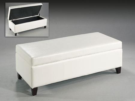 Baul poli piel blanco blog de artesania y decoracion for Taburete pie de cama