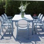 mesa terraza aluminio