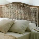 Cabecero de cama en madera y abaca