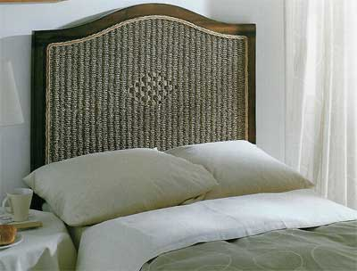 Cabecero cama medula madera blog de artesania y decoracion - Cabeceros de mimbre ...