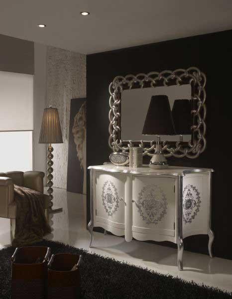 Aparador blanco plata blog de artesania y decoracion - Muebles pintados en plata ...