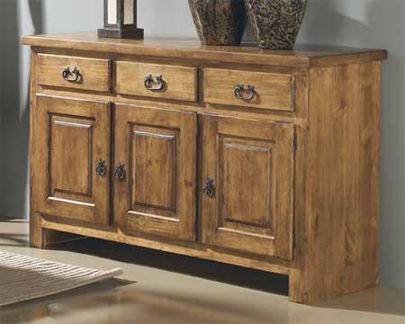 Aparador buffet rustico blog de artesania y decoracion - Tiradores rusticos para muebles ...