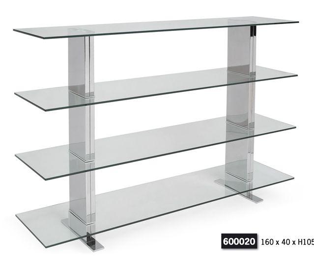 Mesa centro acero y cristal car interior design - Baldas de diseno ...