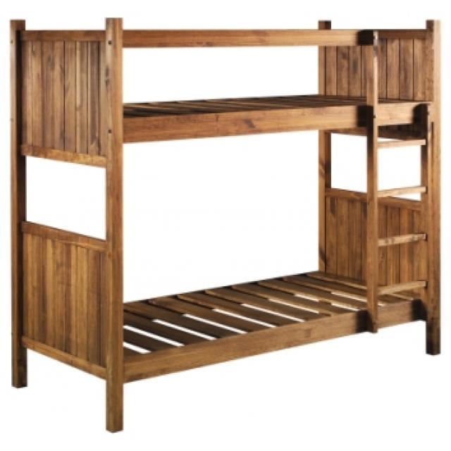 Cama rustica armazon blog de artesania y decoracion - Cama litera de madera ...