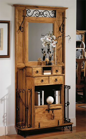 Perchero recibidor rustico ii blog de artesania y decoracion - Percheros antiguos de pared ...