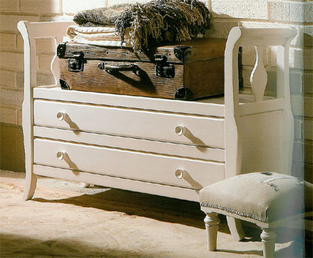 Banco cajones blanco blog de artesania y decoracion - Bancos para recibidor ...