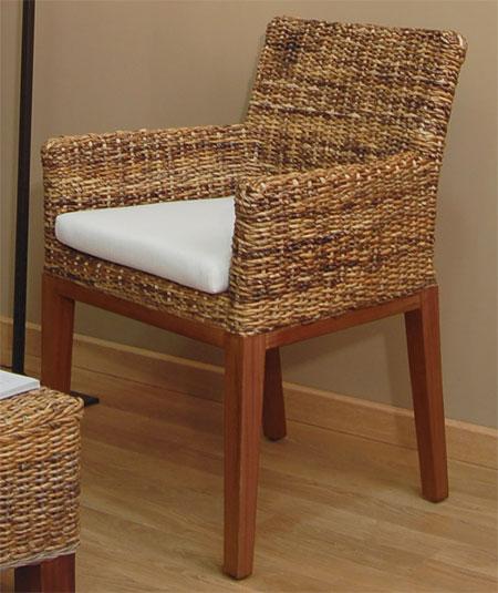 Sillon mimbre abaca comedor blog de artesania y decoracion for Sillon comedor