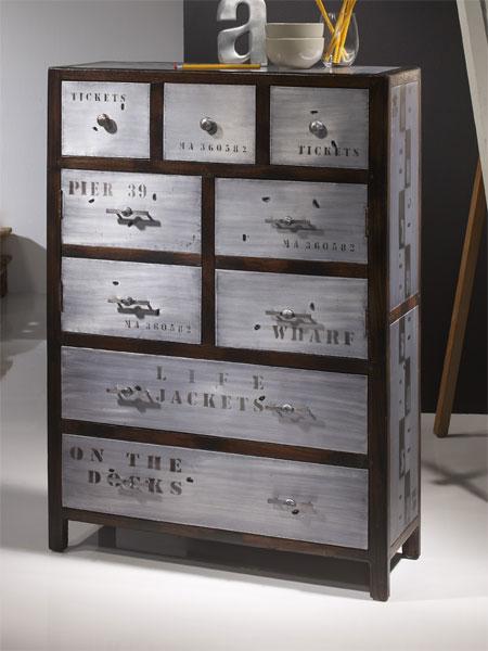Mueble auxiliar puertas industrial blog de artesania y for Comprar mueble industrial