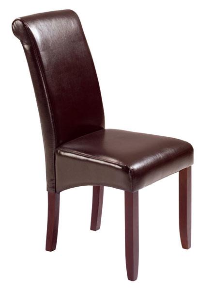silla eco piel marron