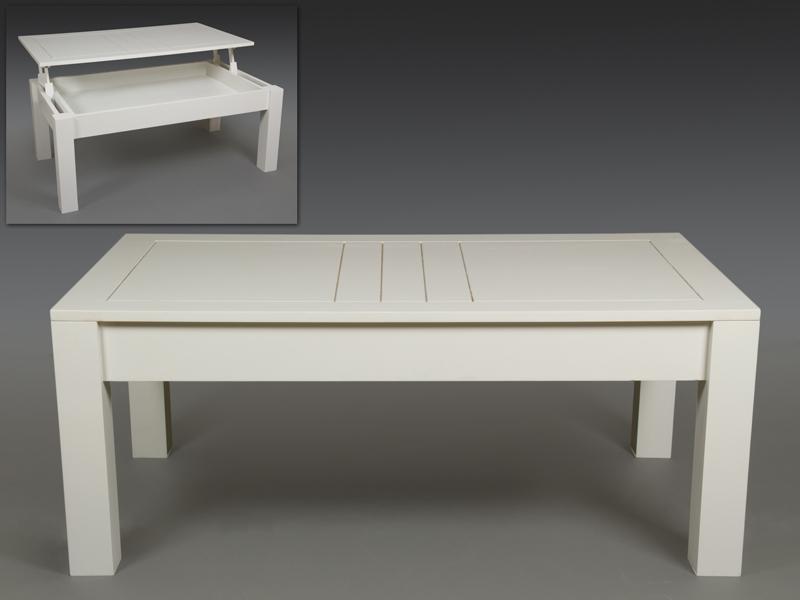 Mesa centro elevable blanca ohio blog de artesania y - Mesa de centro blanca ...