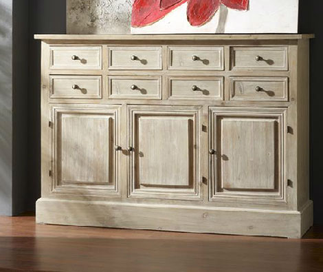 Buffet aparador decapado blanco blog de artesania y - Muebles decapados en blanco ...
