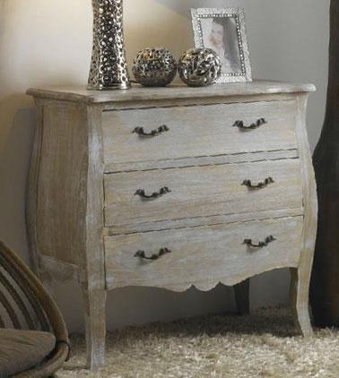 Comoda madera decapada blanco blog de artesania y decoracion - Muebles en blanco y madera ...