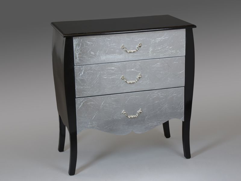 Comoda plata y negro esin blog de artesania y decoracion - Comoda recibidor ...