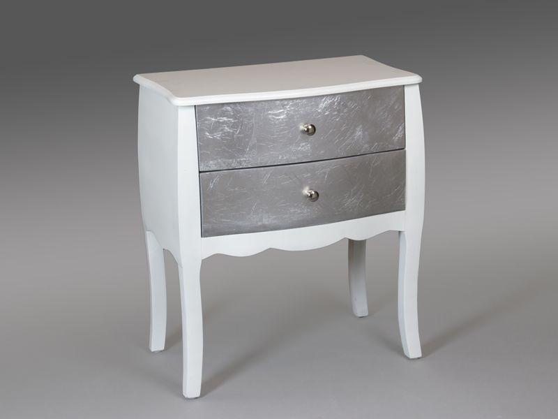Mesilla grande blanco y plata esin blog de artesania y for Comoda recibidor