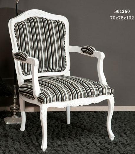 Sillon blanco tapizado rayas negras blog de artesania y for Sillones clasicos tapizados