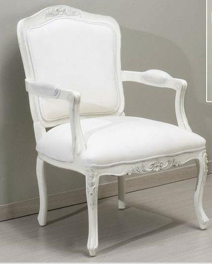 Sillon clasico lacado en blanco roto blog de artesania y for Estilos de sillones clasicos