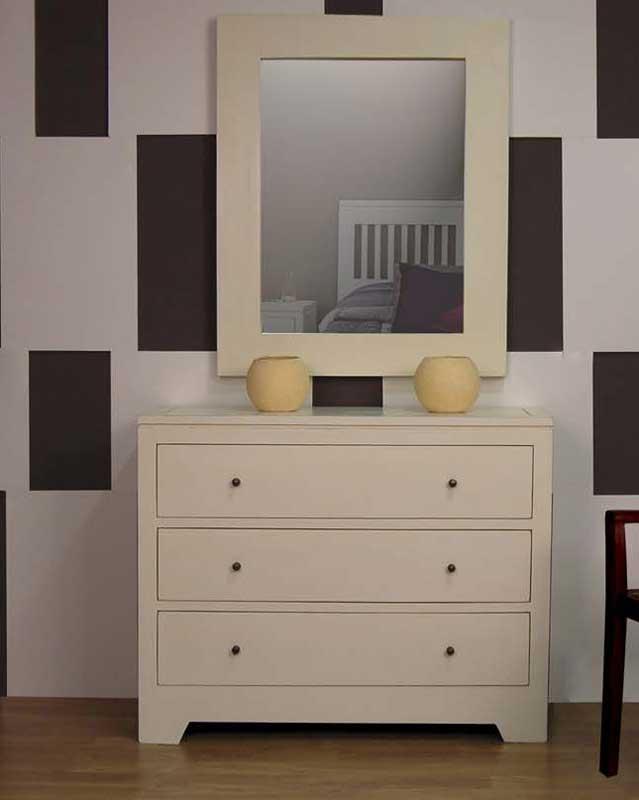 Comoda 3 cajones ivory blog de artesania y decoracion for Muebles coloniales blanco