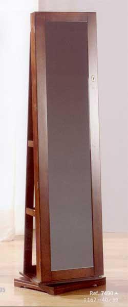 Espejo giratorio pie joyero blog de artesania y decoracion - Espejo joyero de pie ...