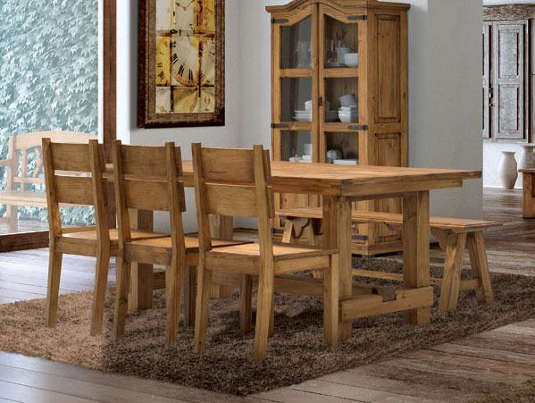 Mesa comedor rustica grande blog de artesania y decoracion for Mesas rusticas comedor