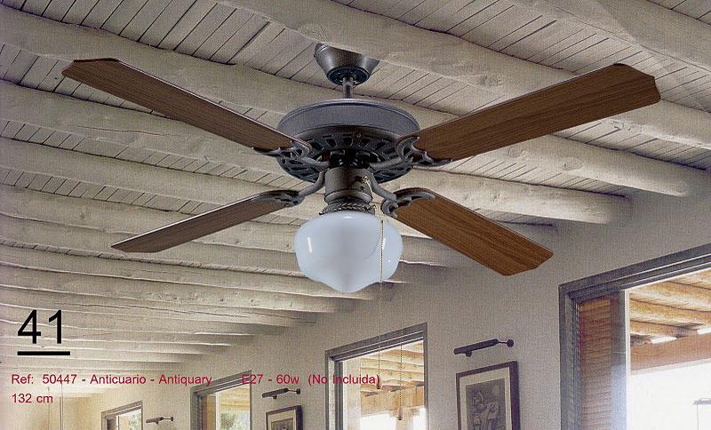 Ventilador de techo anticuario madera con luz blog de - Ventiladores de techo de madera ...