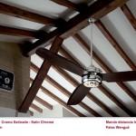 Ventilador de techo blanco con mando a distancia Cromo