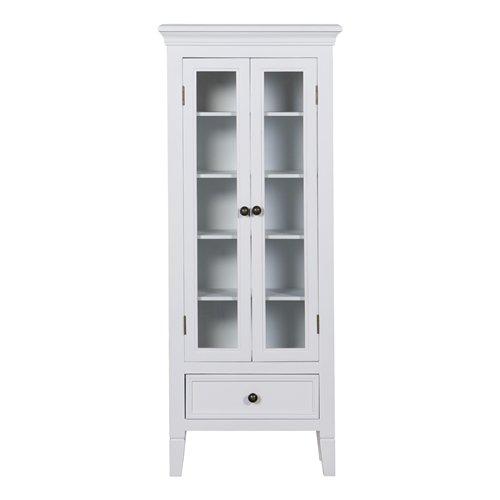 Vitrina madera 2 puertas blanca blog de artesania y - Vitrinas blancas baratas ...