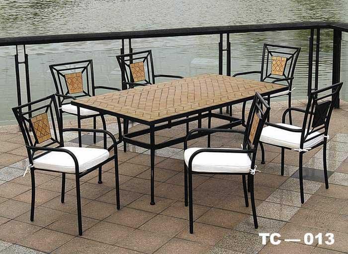 Conjunto 6 sillones y mesa forja exterior blog de for Sillas de forja para jardin