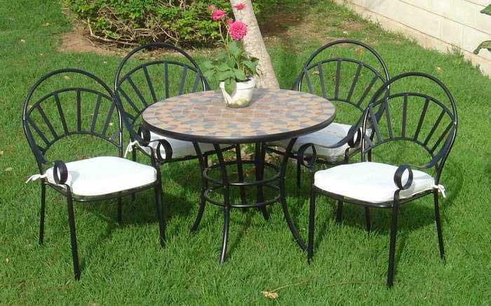 Conjunto de 4 sillones y mesa exterior blog de artesania for Mesa y sillones para jardin