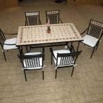 Conjunto de 6 sillones y mesa jardin