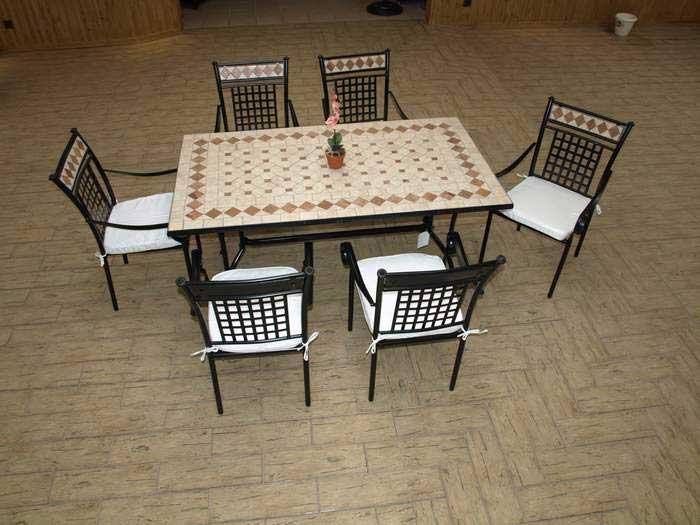 Conjunto de mesa y 4 sillas de jardnexterior car for Conjunto sillones exterior