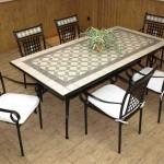 Juego de mesa grande y 6 sillones