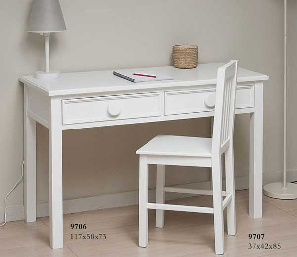 Silla escritorio blanco grimm blog de artesania y decoracion for Sillas de escritorio blancas