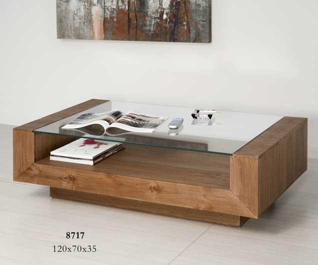 Mesa centro teka con cristal blog de artesania y decoracion - Mesa centro de cristal ...