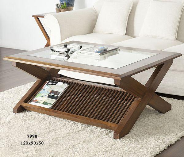 Mesa de centro nogal barras blog de artesania y decoracion - Mesas centro elevables y extensibles ...