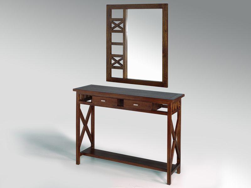 Mueble recibidor con espejo cruces blog de artesania y for Mueble con espejo
