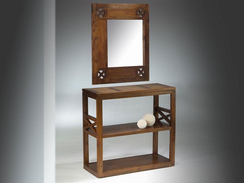 Mueble recibidor con espejo colonial blog de artesania y for Mueble recibidor