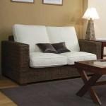 Sofa 2 plazas Rattan Cubic