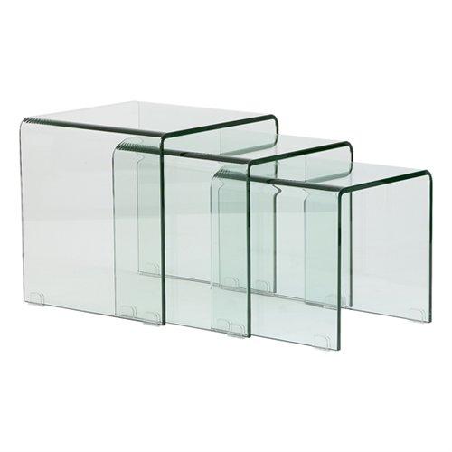 Juego de mesa nido cristal blog de artesania y decoracion for Mesa de vidrio rectangular
