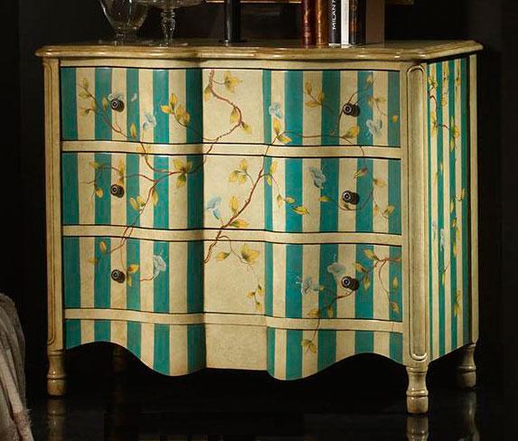 Comoda 3 cajones flores blog de artesania y decoracion - Comodas pintadas ...
