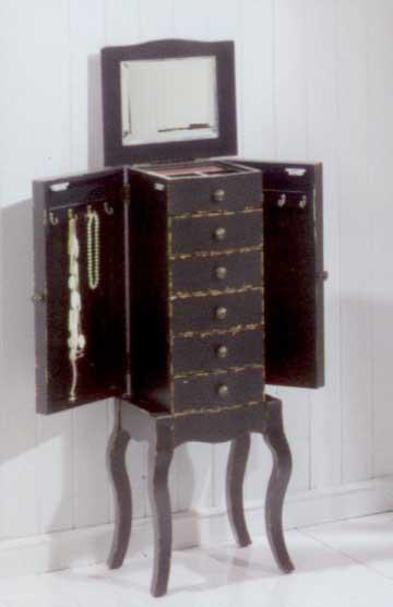 Mueble joyero madera rustico blog de artesania y decoracion for Joyero mueble