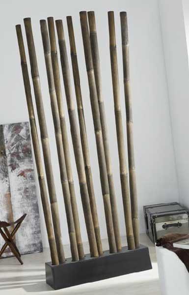 Biombo separador ca as envejecido blog de artesania y - Cana bambu decoracion ...