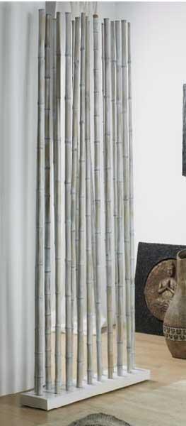 Separador bambu ca a delgada blanco blog de artesania y - Canas de bambu decoracion exterior ...
