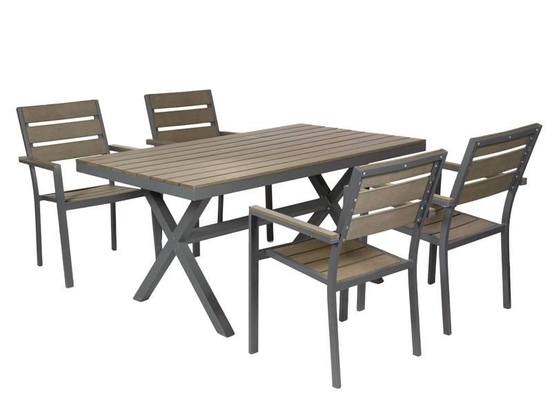 Conjunto mesa aluminio y 4 sillas barton blog de for Mesas de terraza y jardin baratas