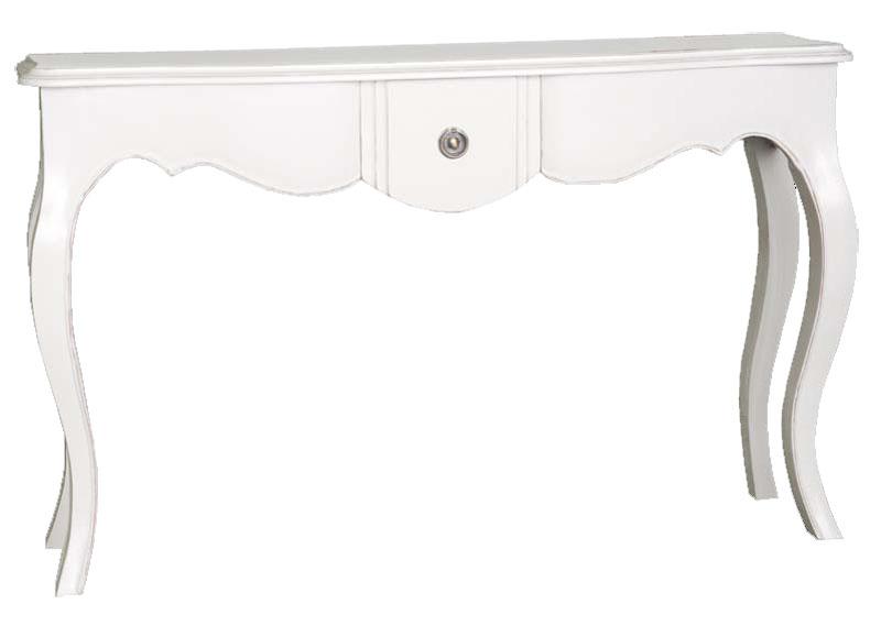 Consola recibidor clasica, mueble entrada clasico blanco, mueble de recibidor blanco