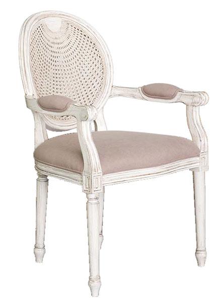 Sillon clasico blanco patinado marron usun blog de - Sillas y sillones modernos ...