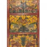 Armario 6 puertas oriental, armario pintado a mano, armario chino