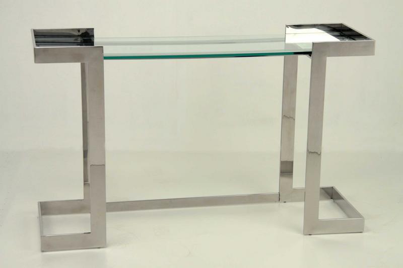 Consola aluminio cristal clever blog de artesania y decoracion - Consolas modernas para recibidor ...